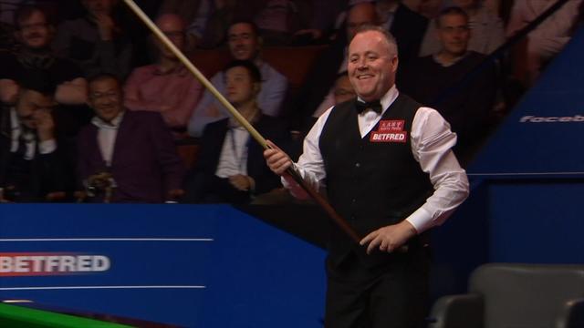 'Too much haggis!' - Higgins struggles to reach ball