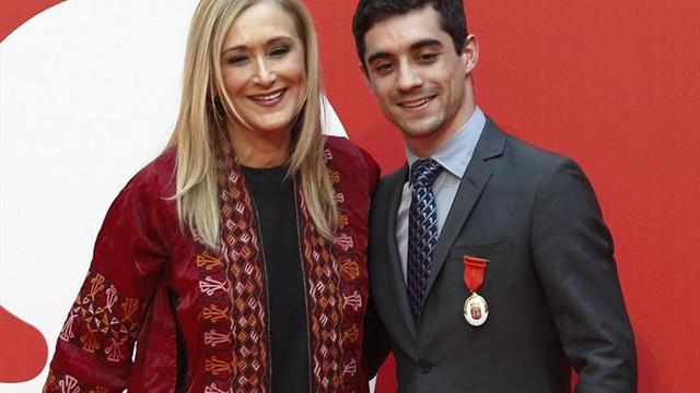 Javier Fernández, orgulloso de recibir la Medalla de la Comunidad de Madrid