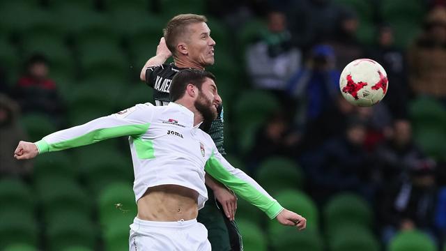 «Краснодар» и«Анжи» закончили матч снулями натабло