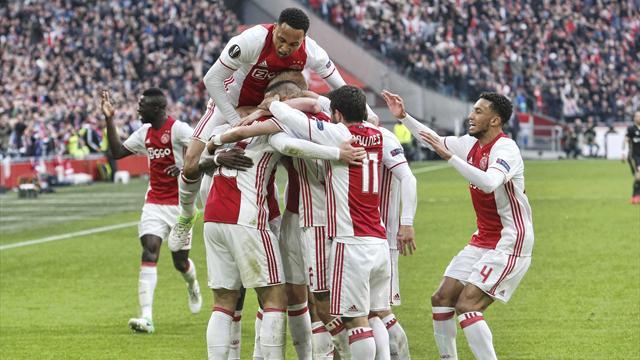 Europa League, Ajax-Olympique Lyon (Semifinales, ida): Homenaje al 'cruyffismo' (4-1)
