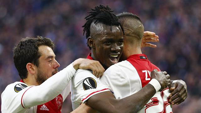 Chelsea loan star Traore scores double as Ajax beat Lyon in first leg