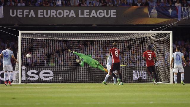Europa League (Semifinales, ida), Celta-Manchester United: Una diablura les aleja de Estocolmo (0-1)