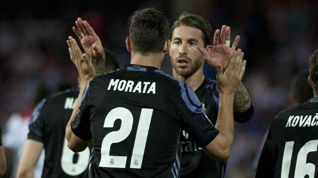 Il Real Madrid 'passeggia' a Granada: Zidane fa turn over ma bastano James e Morata, 0-4