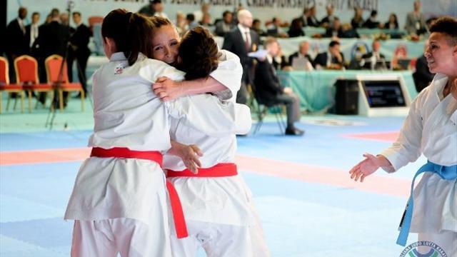 Italia argento europeo nel kata maschile, ma oro nel femminile