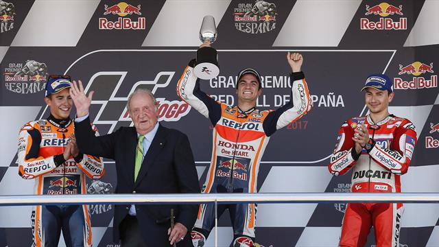 Dani Pedrosa encabezó triplete de poles españolas en Jerez