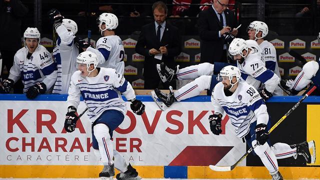 Hockey sur glace: les Bleus requinqués avant le derby France-Suisse