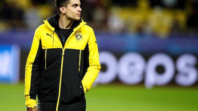 Marc Bartra entrenó por primera vez tras el atentado al Dortmund