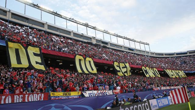 La contundente respuesta del Vicente Calderón al tifo del Bernabéu