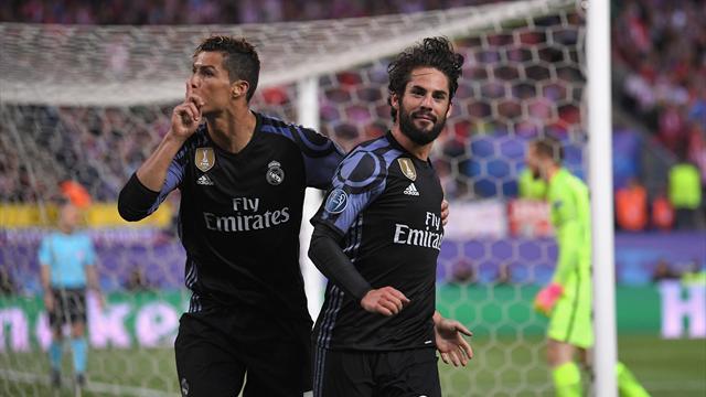 Cristiano mandó callar al Calderón tras el gol de Isco