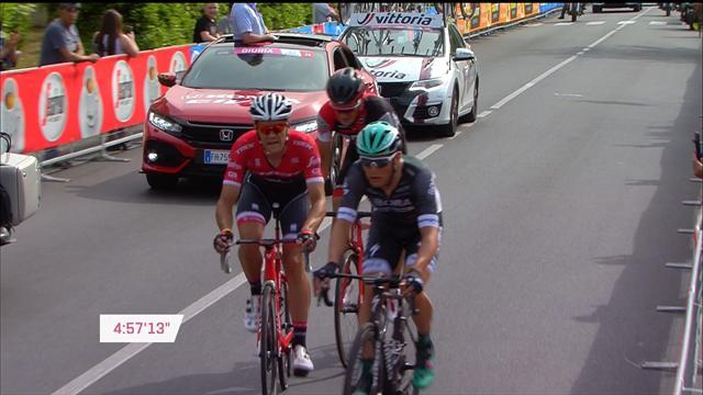 Дийе первым ускорился к финишной черте и первым ее пересек на шестом этапе «Джиро»