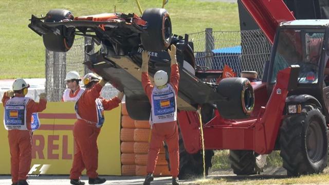 Desastroso inicio de Fernando Alonso en Montmeló: Rotura de motor tras dos vueltas