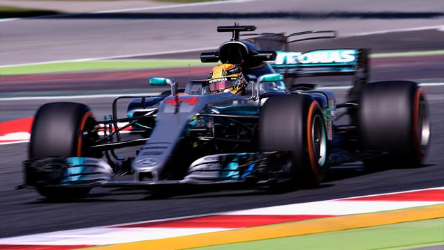 Hamilton fastest as Mercedes dominate in Spain