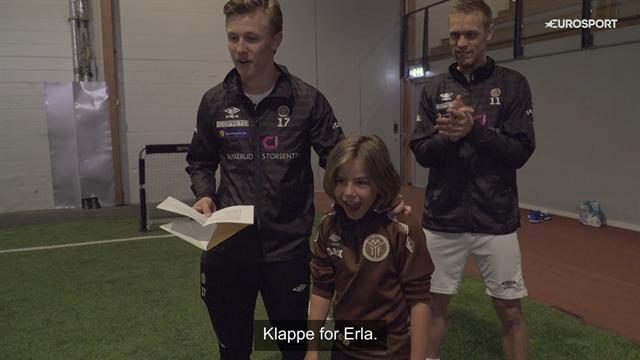 Erla (8) elsker fotball og Mjøndalen