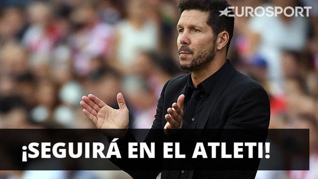 Diego Simeone confirmó que su intención es seguir en Atlético de Madrid