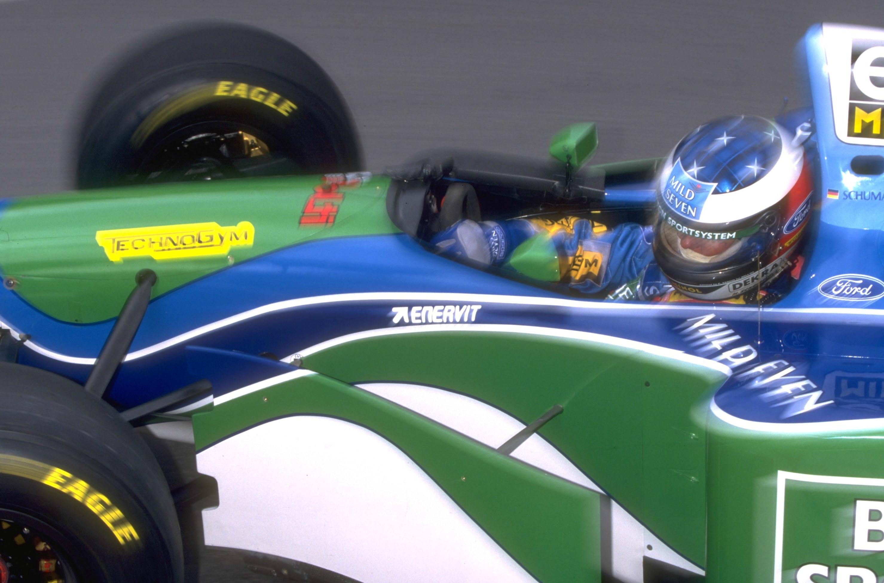Michael Schumacher (Benetton) au Grand Prix de Monaco 1994