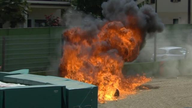 Laverty in horror crash as bike explodes in fireball