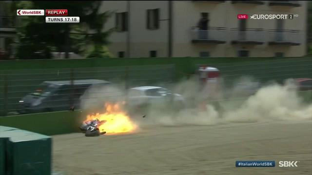 Laverty ready to race after dramatic Imola crash
