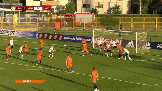 U17 highlights: Germany reach semi-finals with win over Dutch