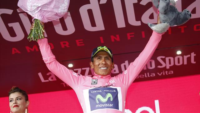 Quintana preia controlul Giro d'Italia cu o victorie pe Blockhaus în timp ce haosul lovește plutonul