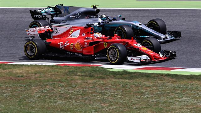 Hauchdünne Abstände: Ferrari rückt Mercedes auf die Pelle