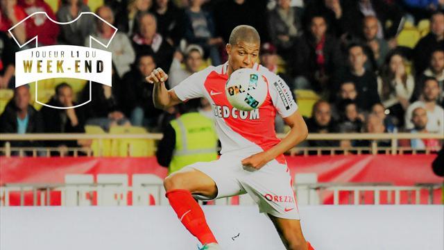 Mbappé, meilleur joueur de la 37e journée, bataille avec Thauvin, Cavani et Lacazette pour le titre