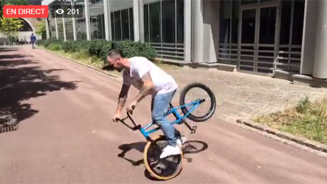 360°, Kickflip, bar whip : revivez le Live Facebook avec le champion de BMX Alex Jumelin