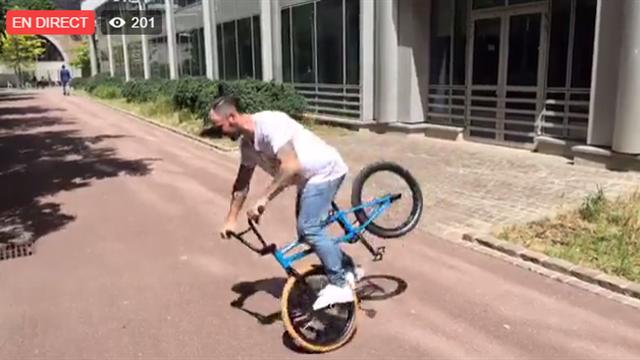 360°, Kickflip, bar whip : revivez le Live Facebook avec le champion de BMX Alex Jumelin