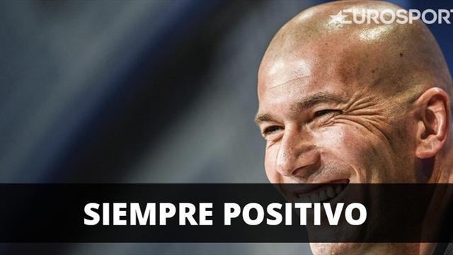 """Zidane: """"No voy a hablar de los maletines, sólo pienso en positivo"""""""