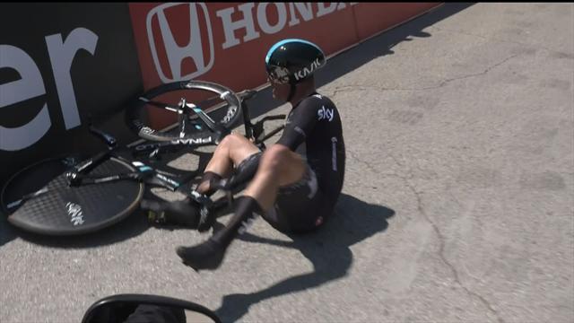 More bad luck for Team Sky: Heavy fall for Kiryienka on Giro time trial