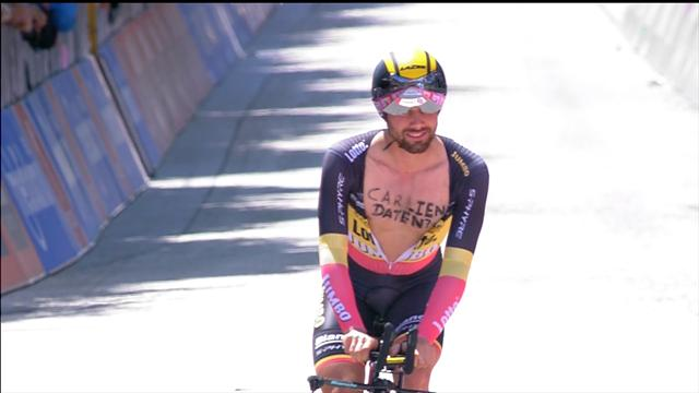 Rider sends message to mystery girl on time trial