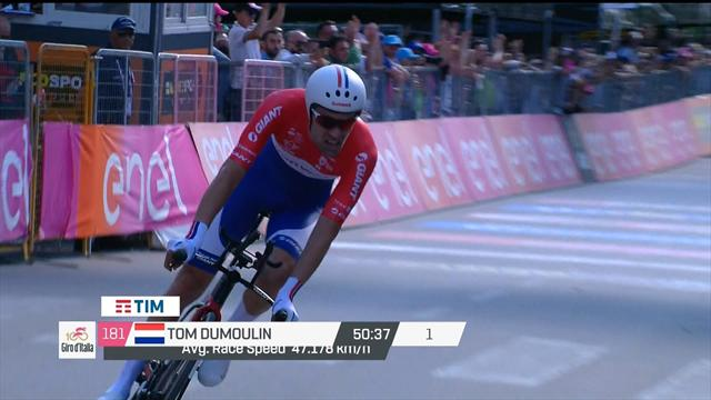 Highlights: Tom Dumoulin cruises to time trial win