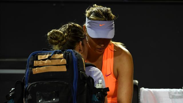 Mardi noir pour Sharapova, contrainte à l'abandon alors qu'elle menait...