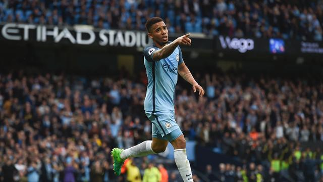 Gabriel Jesus scores as City move to brink of Champions League spot