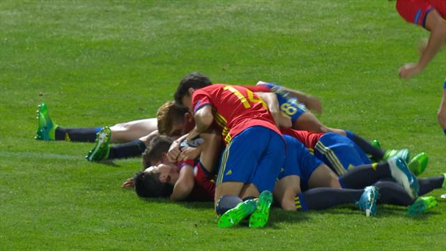 Highlights: Spain sink Germany on penalties to reach final