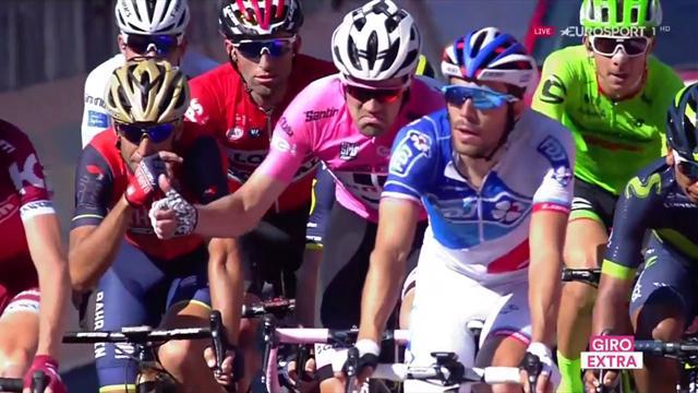 Giro 2017: ¿A quién señala el dedo de Dumoulin? Pique y guerra de nervios del líder con Nibali