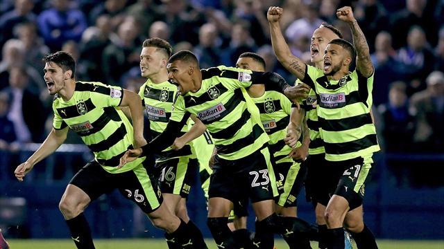 Huddersfield book Wembley final after shootout win