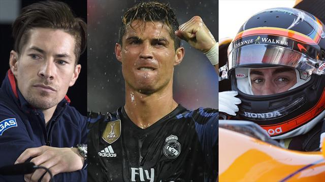 Hayden, Cristiano y Alonso, los nombres del día