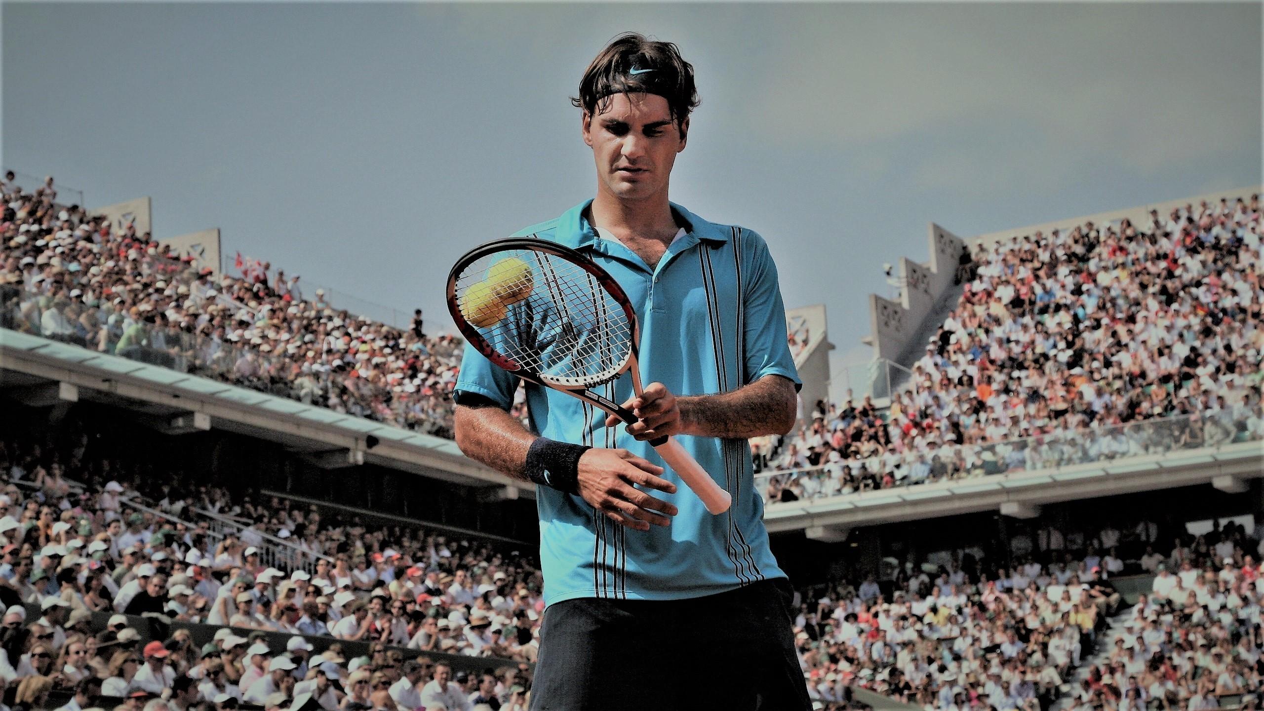 Roger Federer in the 2006 final at Roland-Garros