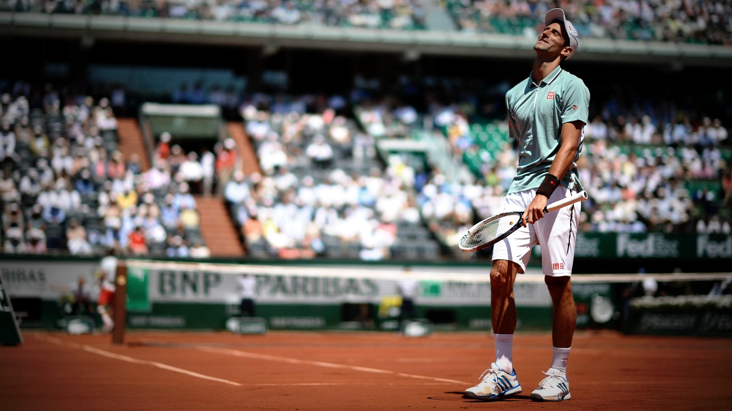Djokovic during the extraordinary semi-final in 2013