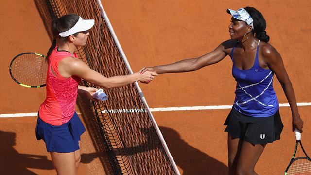 Venus sees off Konta to reach Rome quarters