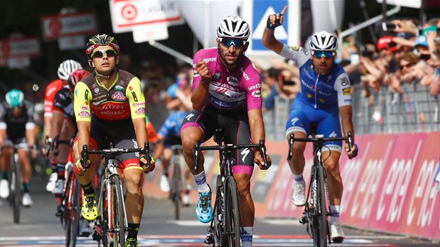 Hat-trick for Gaviria after Stage 12 sprint success