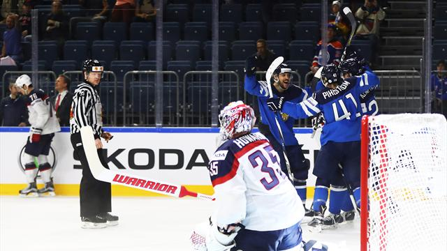La Finlande se paie les Etats-Unis, un choc Canada - Russie en demies