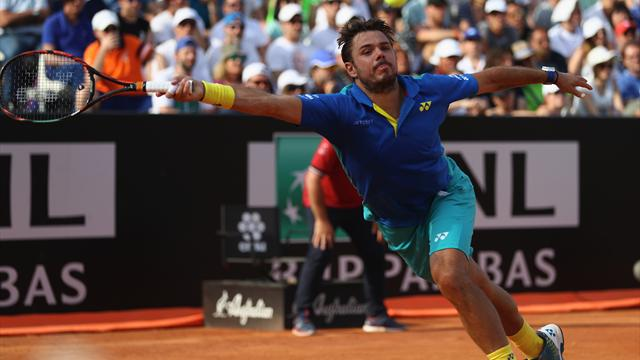 Wawrinka falls in Rome, Nadal and Djokovic into quarter-finals