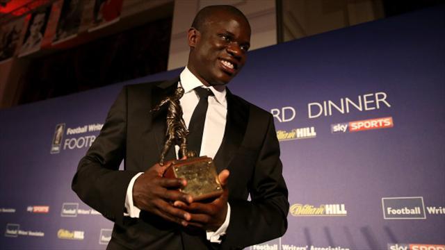 N'Golo Kante humble after winning Football Writers' Association award