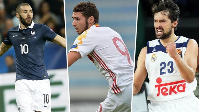 Benzema, España Sub 17 y el Madrid de basket, los nombres del día