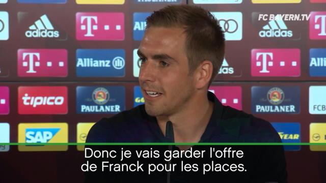 """Lahm : """"Je n'ai pas encore pensé à mon avenir mais j'ai reçu une offre de Franck Ribéry"""""""