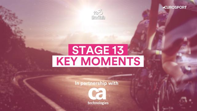 Giro d'Italia Stage 13: Key Moments