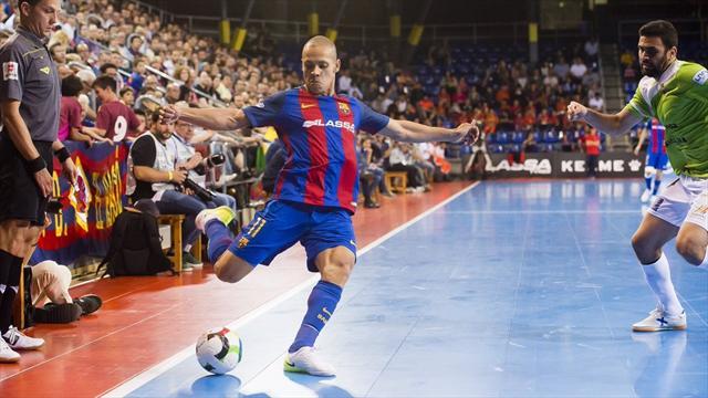 LNFS 2017 (Playoffs), Barcelona-Palma: El gol de Ferrao que encarriló la victoria