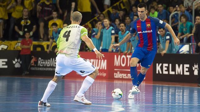 LNFS 2017 (Playoffs), Barcelona-Palma: Sergio Lozano selló la goleada desde su casa