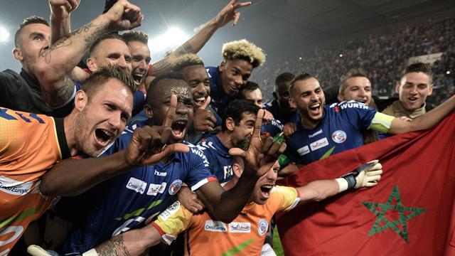 Au coup de sifflet final, les Strasbourgeois ont exulté pour fêter leur titre...
